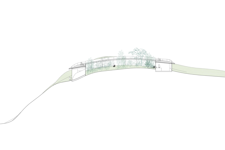 Panda pavilion section